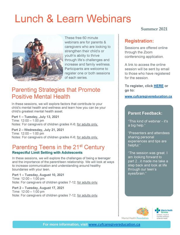 Free Online Programming for Parents and Caregivers this Summer Featured Photo