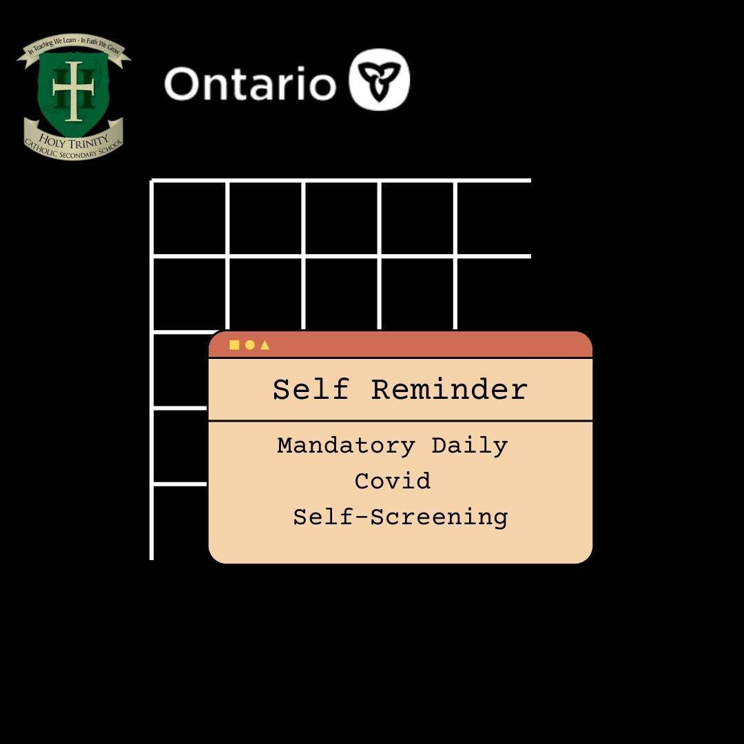 Mandatory Daily Student Self-Screening Image