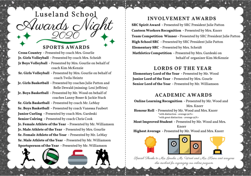 Luseland School 2020 Awards Night Video Featured Photo