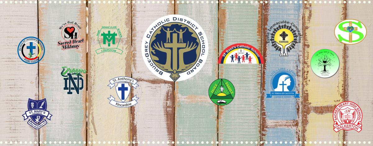 BGCDSB school logos