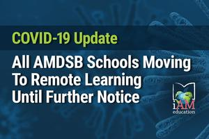 COVID-19 Update: All AMDSB schools moving to remote learning until further notice. AMDSB logo