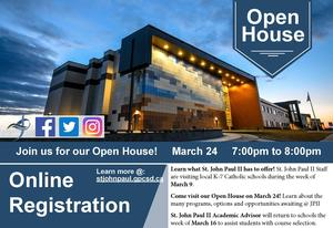 (Postponed) St. John Paul II Open House, March 24: 7-8 pm Featured Photo