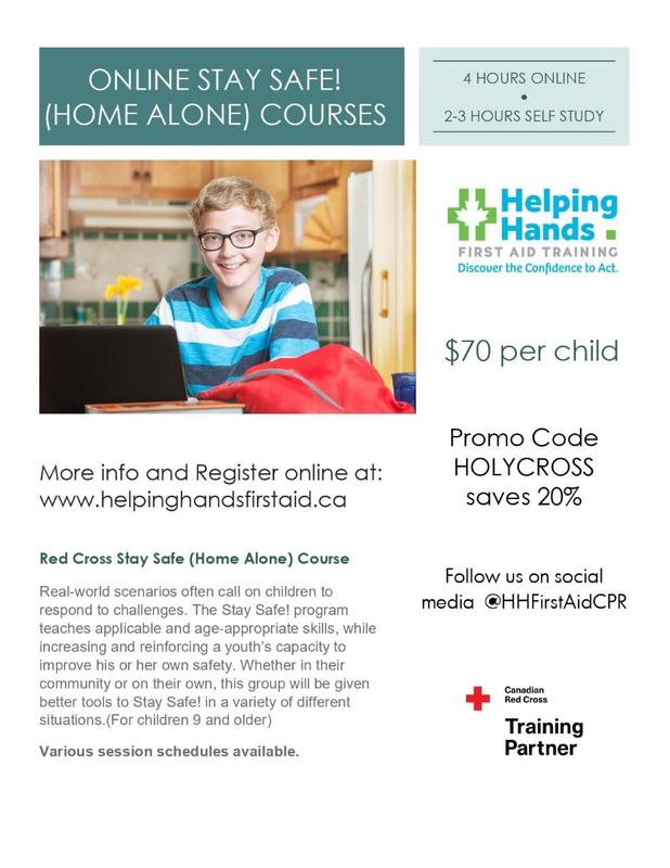 Home Alone course for Grade 9+ Featured Photo