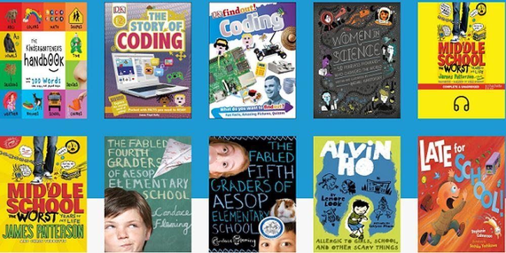 eBook selections from OverDrive