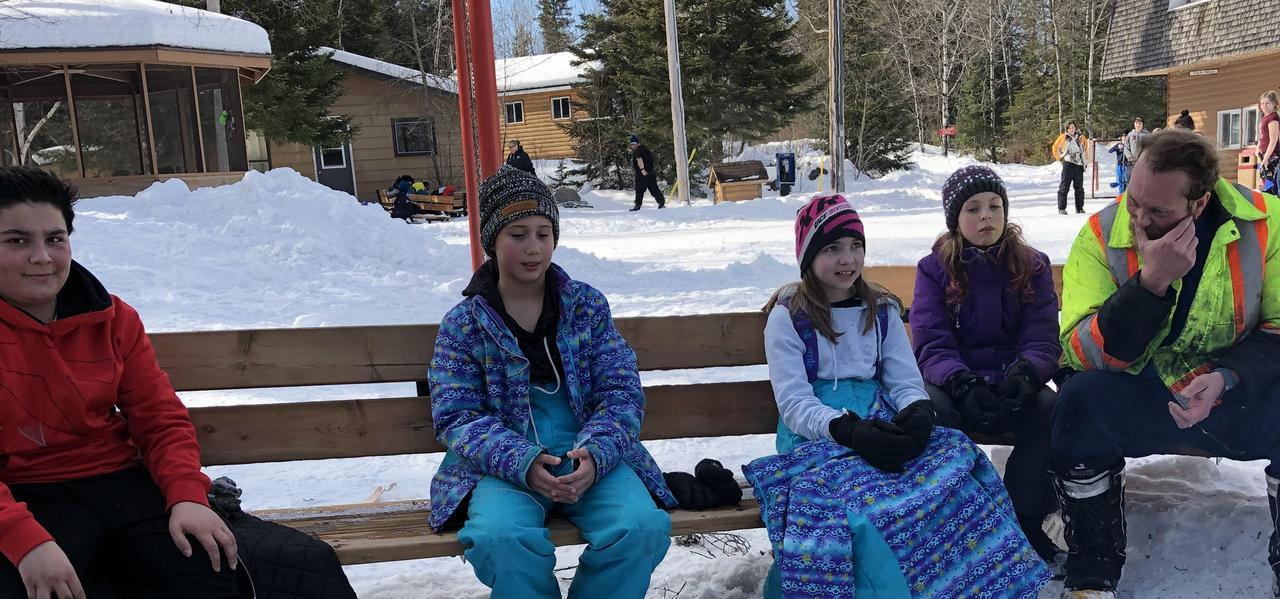 Grade 5/6 students at Red Rock camp.
