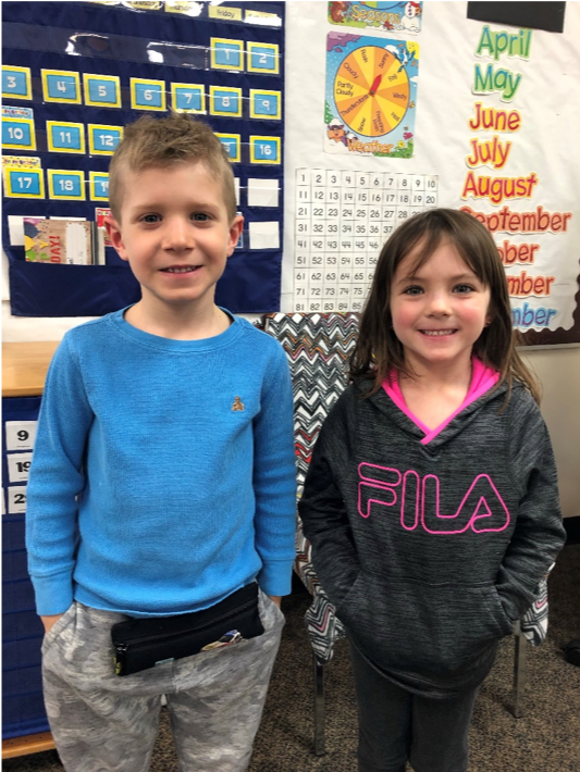 Kindergarten Winners Quinn and Keeva